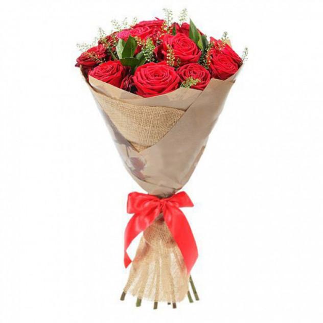 Букет из 11 красных роз № 4
